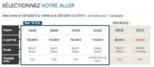 La SNCF augmente son prix de 41% en deux minutes